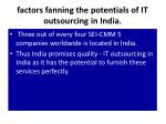 factors fanning the potentials of it outsourcing in india6