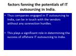 factors fanning the potentials of it outsourcing in india8