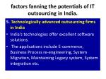 factors fanning the potentials of it outsourcing in india9