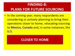 finding 8 plans for future sourcing1