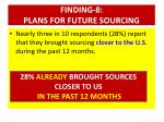 finding 8 plans for future sourcing2