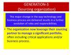 generation 3 sourcing organization