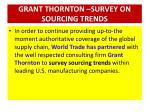 grant thornton survey on sourcing trends