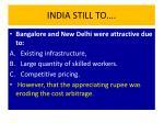 india still to