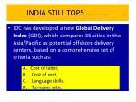 india still tops