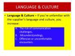 language culture