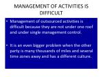 management of activities is difficult1