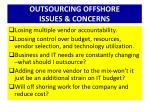 outsourcing offshore issues concerns
