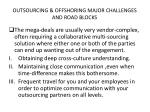 outsourcing offshoring major challenges and road blocks1