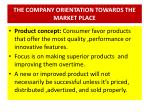the company orientation towards the market place1