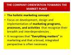the company orientation towards the market place4