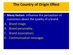the country of origin effect