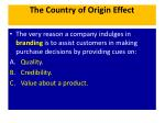 the country of origin effect1