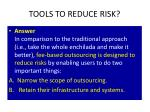 tools to reduce risk2