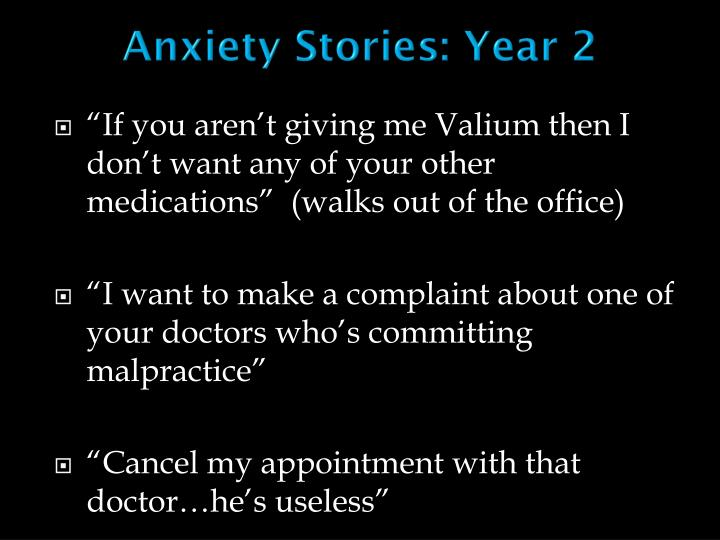 Anxiety Stories: Year 2