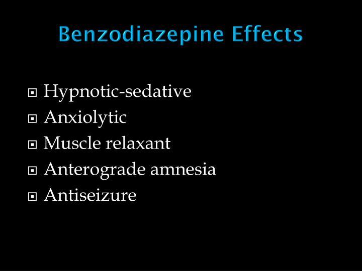 Benzodiazepine Effects