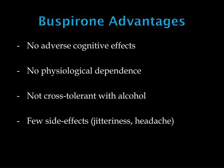 Buspirone Advantages