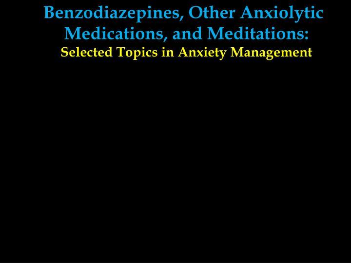 Benzodiazepines, Other