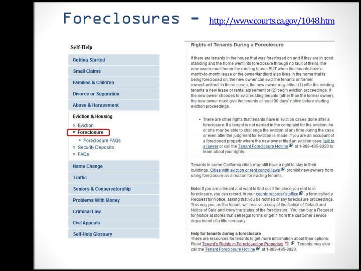 Foreclosures -