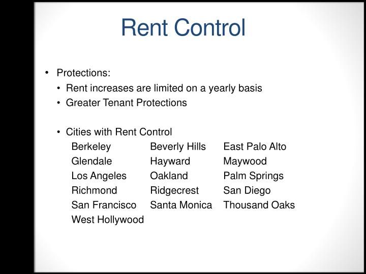 Rent Control