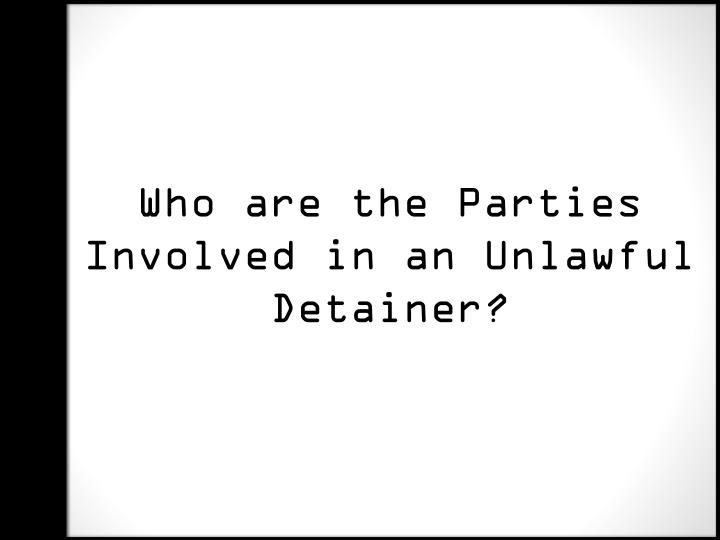 Who are the Parties