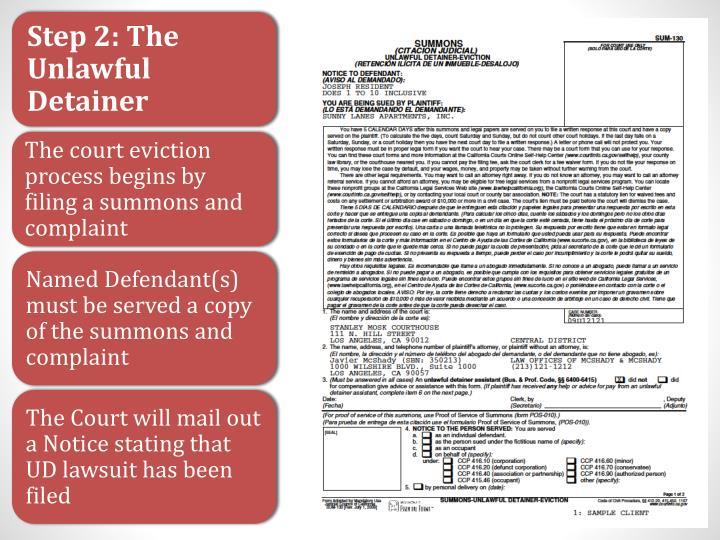 Step 2: The Unlawful Detainer