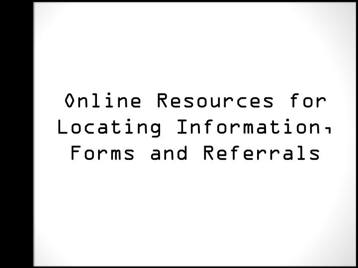 Online Resources for
