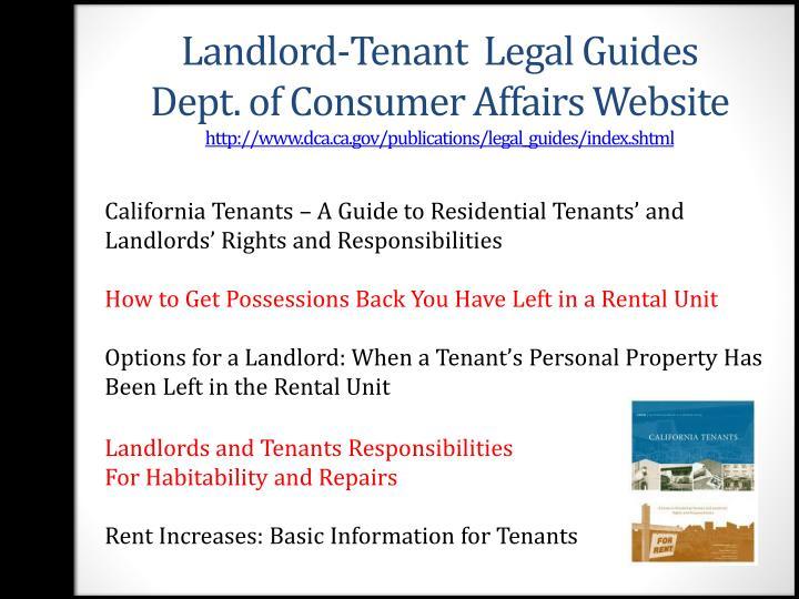 Landlord-Tenant  Legal Guides