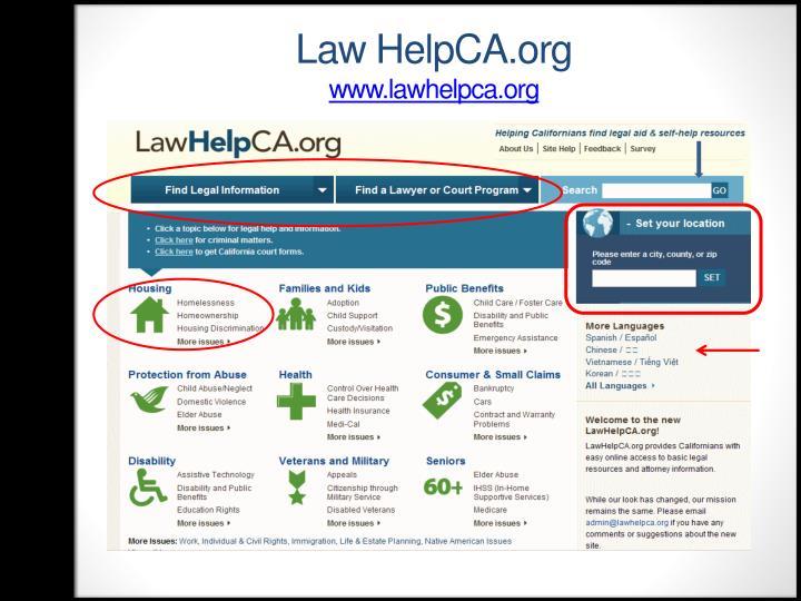Law HelpCA.org