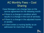 ac monthly fees cost sharing1