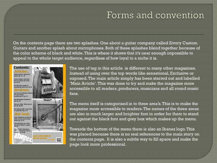 Forms and convention
