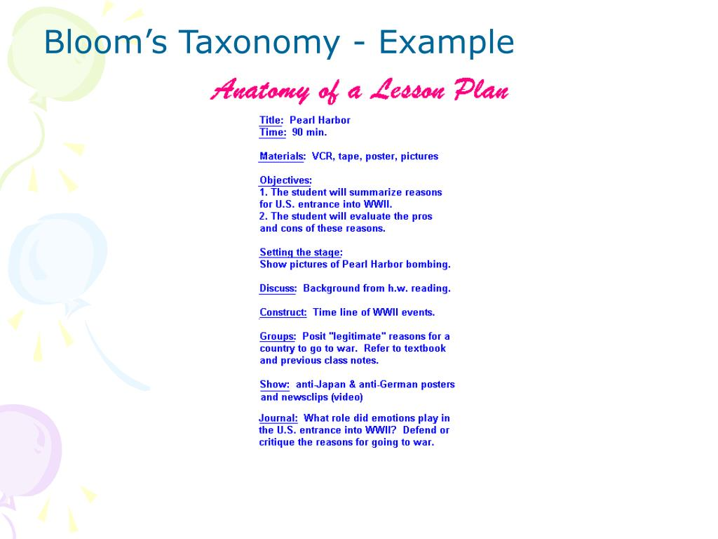 PPT - Lesson Planning PowerPoint Presentation - ID:1788028