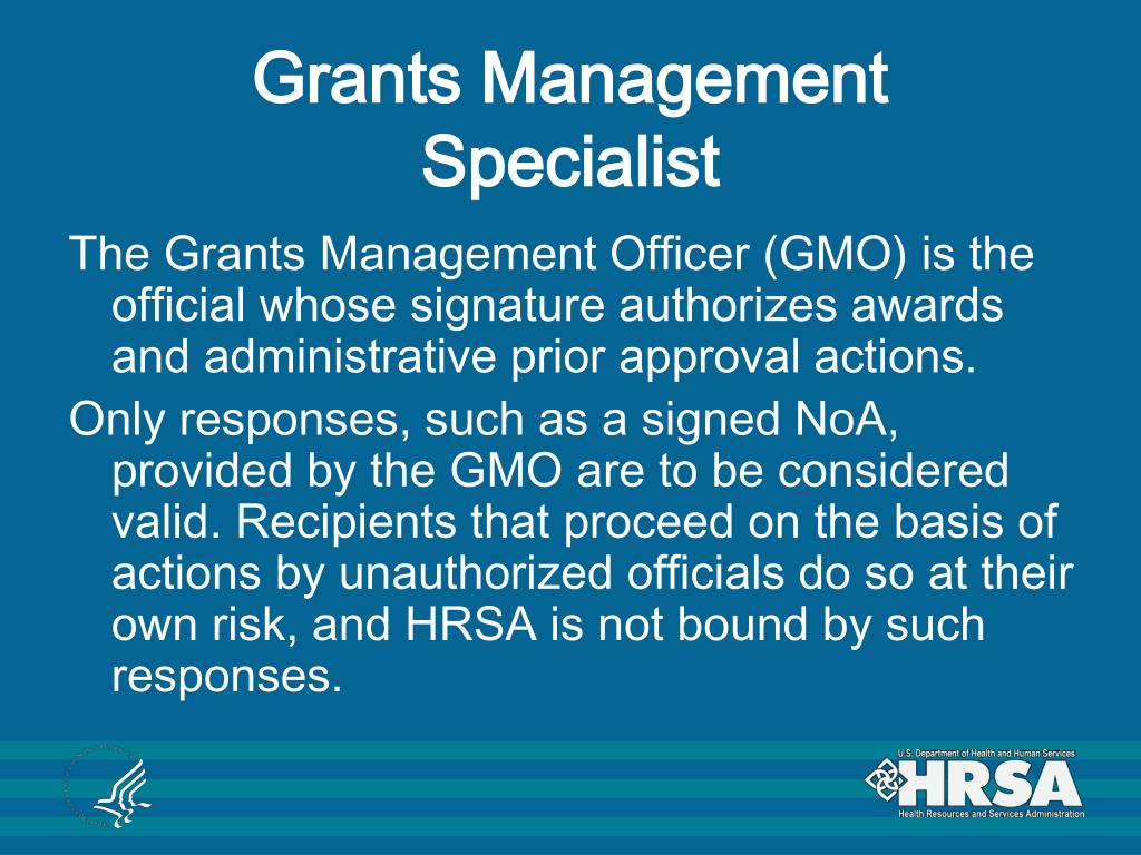 Technology Management Image: ADMINISTRATIVE MANAGEMENT OF HRSA GRANTS PowerPoint
