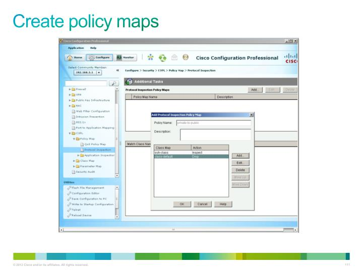 Create policy maps