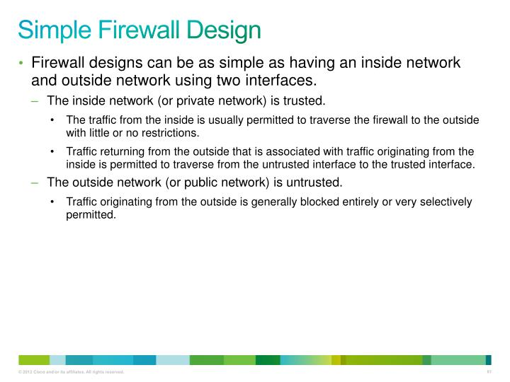 Simple Firewall Design