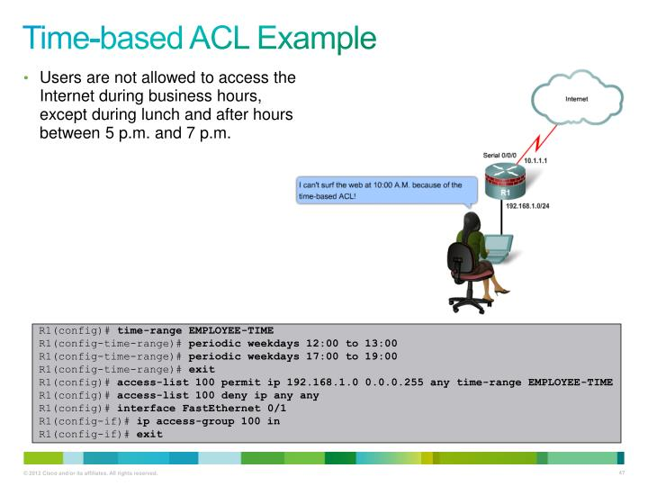 Time-based ACL Example