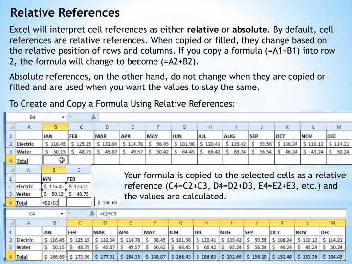 Relative References