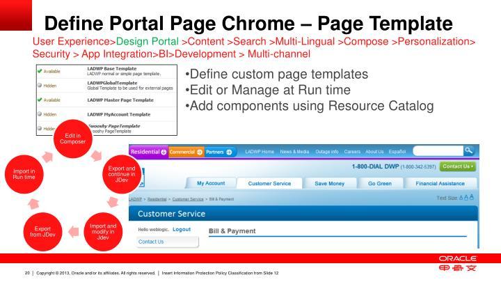 Define Portal Page Chrome – Page Template