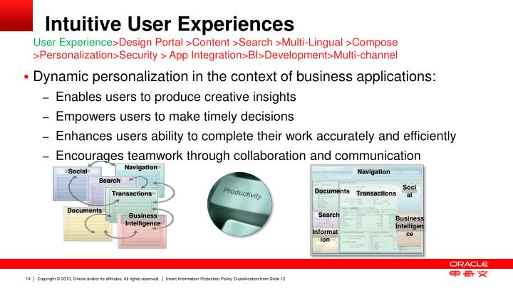 Intuitive User Experiences