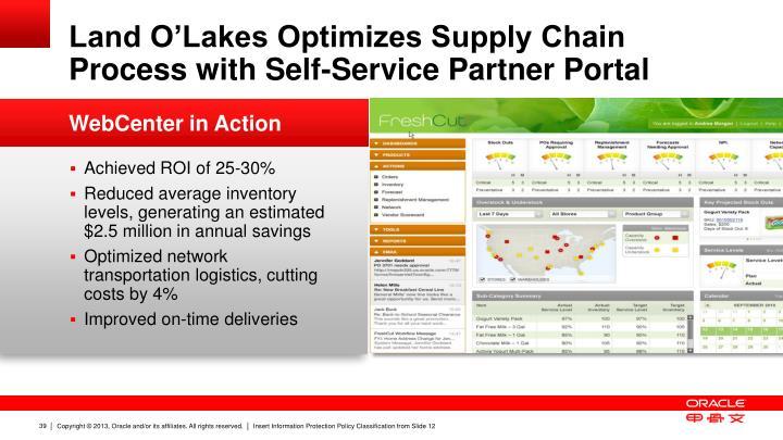 Land O'Lakes Optimizes Supply Chain