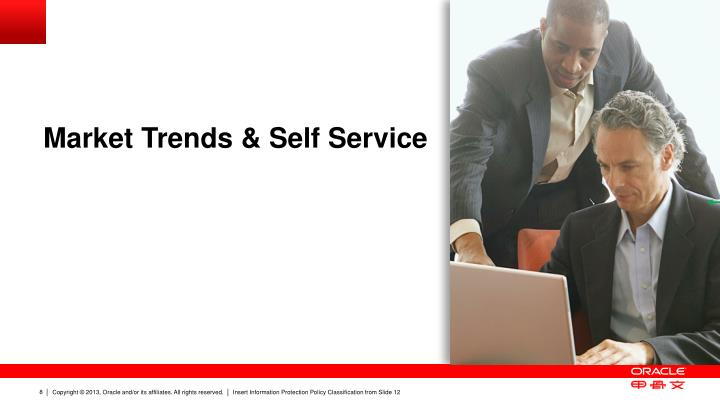 Market Trends & Self Service
