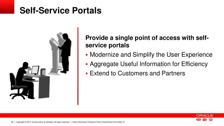 Self-Service Portals