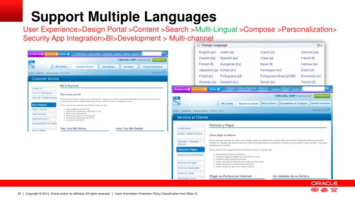 Support Multiple Languages