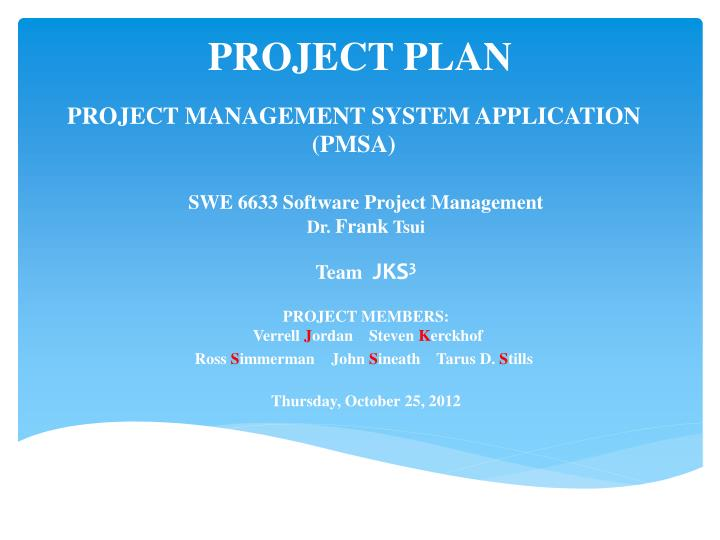 project management system application pmsa n.