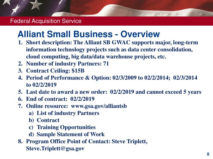 Alliant Small Business - Overview
