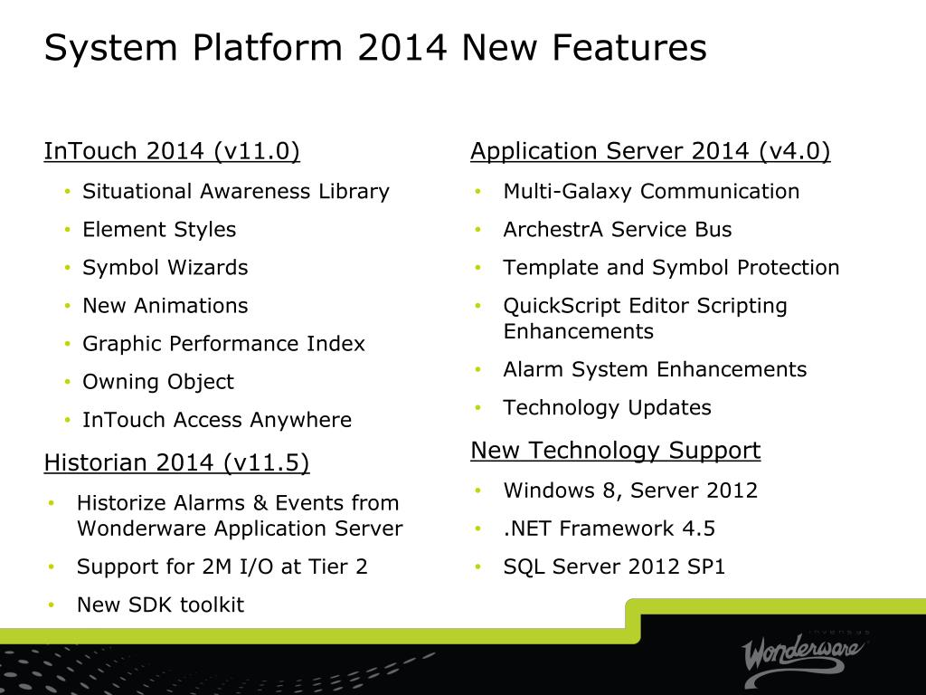 PPT - System Platform 2014 Roadmap & New Features PowerPoint