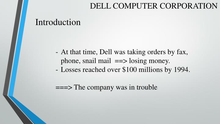 DELL COMPUTER CORPORATION