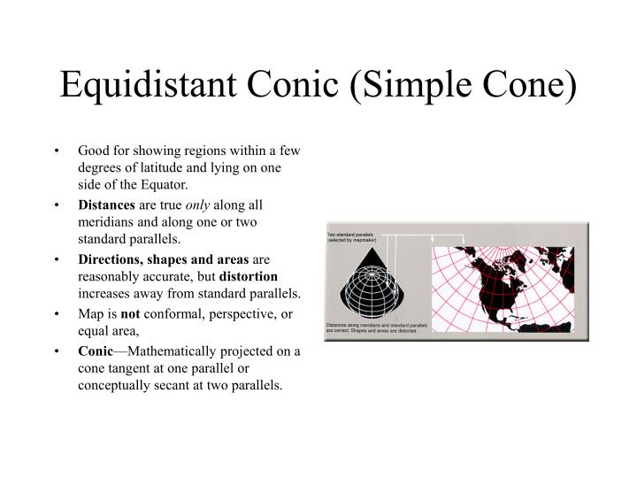 Equidistant Conic (Simple Cone)