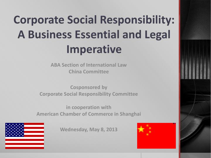 corporate social responsibility and business law