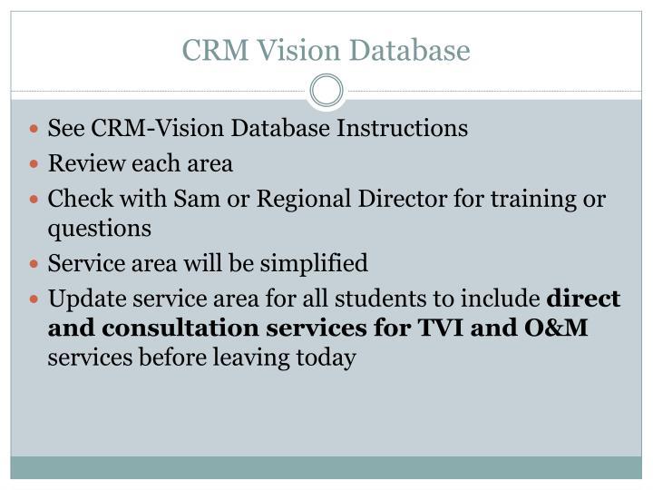 CRM Vision Database